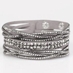 Suede bling wrap bracelet